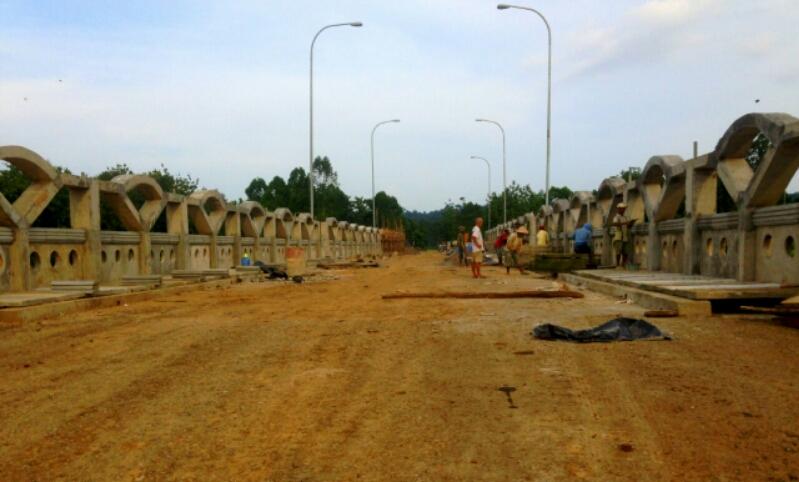 Pembangunan Jembatan Pulau Emas Terus Digenjot